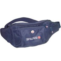 TL-002 Men Large Polyester Cheap Waist Bag With Zipper Promotional Logo